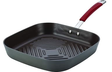 Rachael Ray Cucina Hard-Anodized Nonstick 11-Inch Deep Square Grill Pan
