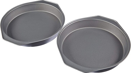 AmazonBasics Nonstick Carbon Steel Round Baking Cake Pan