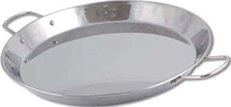 Chef Direct Stainless Steel Round Dish Paella Pan