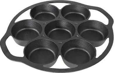 Sunnydaze cast iron popover pan