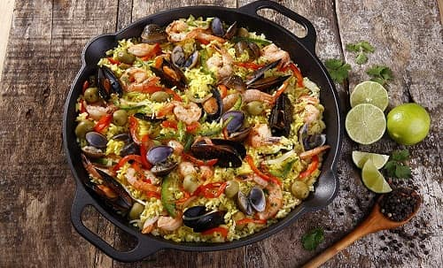 Victoria Cast Iron Paella Frying Pan Seasoned