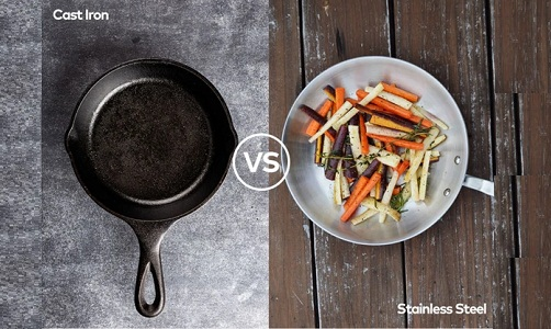 Cast Iron Pan vs. Stainless Steel Pan