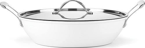 Food & Wine Gorham Light Cast Iron 4 Quart Braiser pan