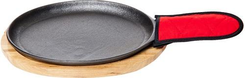 Old Mountain Pre-Seasoned Cast Iron Fajita Plate